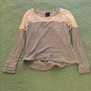 Heather by Bordeaux lace detail sweatshirt